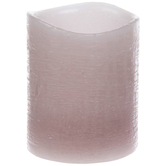 Pink Distressed LED Votive Candle