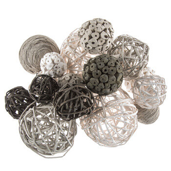 Gray & White Decorative Spheres