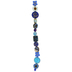 Blue Mix Flower Glass Bead Strand