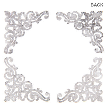 Silver Ornate Photo Corner Embellishments