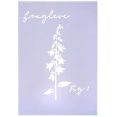 Foxglove Stencil