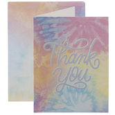 Prismatic Tie-Dye Thank You Cards