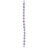 Violet Textured Round Bead Strand