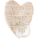 White Heart Wood Wall Sconce