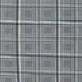 Black & White Plaid Twill Bengaline Fabric