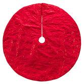 Red Sequin Snowflakes & Swirls Tree Skirt