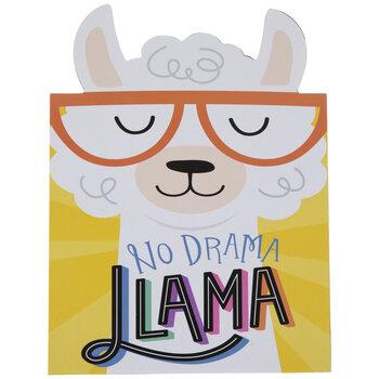 No Drama Llama Wood Decor