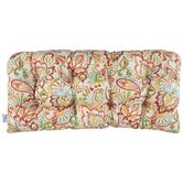 Papaya Floral Bench Cushion