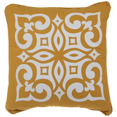 Yellow & White Tuscan Tile Pillow
