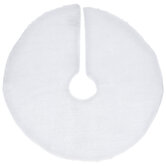White & Iridescent Faux Fur Mini Tree Skirt