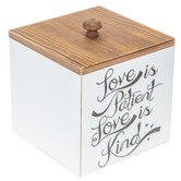 Love Is Patient Wood Box