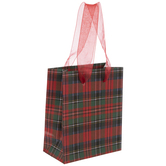 Red Plaid Gift Bags