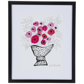 Pink Flower Vase Framed Wall Decor
