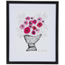 Pink Flower Vase Framed Wall Decor
