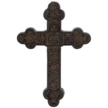 Rust Medallion Metal Wall Cross