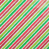 Red, Green & White Striped Gift Wrap
