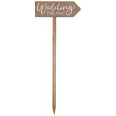 Wedding This Way Wood Stake