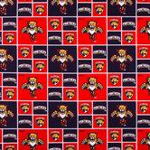 NHL Florida Panthers Block Cotton Fabric