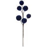 Blue Velvet Spheres Pick