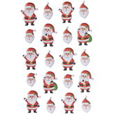 Santa Puffy Stickers