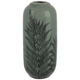 Green & Black Fern Vase