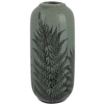 Green & Black Fern Vase