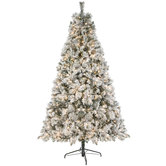 2019 Flocked Fast Shape Sonoma Cashmere Pre-Lit Christmas Tree - 7 1/2'