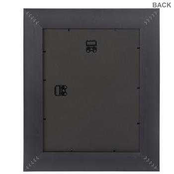 Black Glossy Scoop Wall Frame