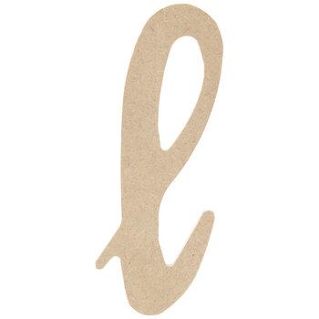 Lowercase Script Wood Letter - L