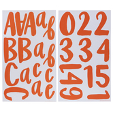 Orange Prickly Alphabet Stickers