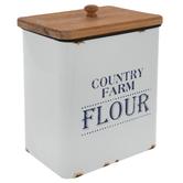 Country Farm Flour Canister