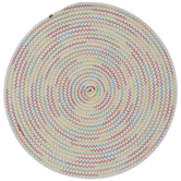 White & Multi-Color Stitched Placemat