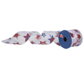 "Glitter Stars Wired Edge Sheer Ribbon - 2 1/2"""