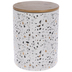 White, Gray & Gold Terrazzo Canister - Large