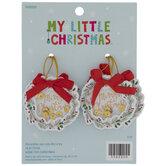 Mini Merry Christmas Wreath Shaker Ornaments