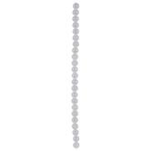 White Quartz Glass Bead Strand