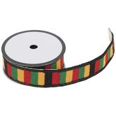 """Black & Red Striped Serape Trim - 1 1/4"""""""