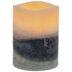 Blue & White Layered LED Pillar Candle - 3