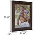 Dark Walnut Beveled Wood Wall Frame - 11