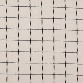 Ivory Graph Check Duck Cloth Fabric