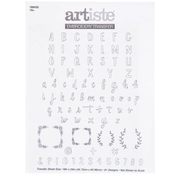 Alphabet Embroidery Transfer Pattern