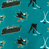 NHL San Jose Sharks Allover Fleece Fabric