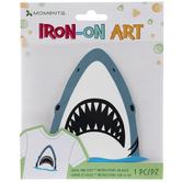 Toothy Shark Head Iron-On Applique
