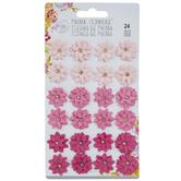 Pink Rhinestone Gloxinia Flower Embellishments