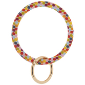 Multi-Color Confetti Bangle Keychain