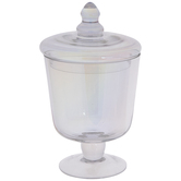 Iridescent Glass Jar