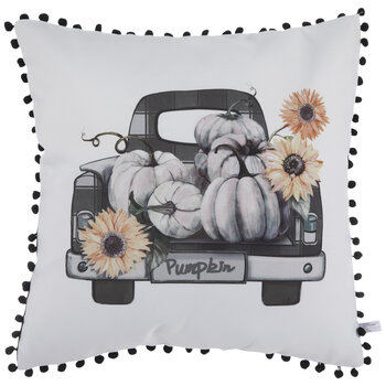 Truck With Pumpkins Pillow Cover