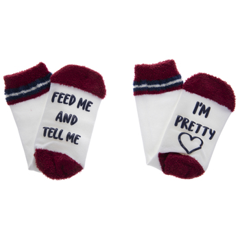 Red Tell Me I'm Pretty Crew Socks