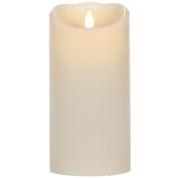 Vanilla Real Flame-Effect LED Pillar Candle