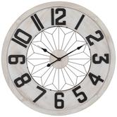 White & Black Wood Wall Clock